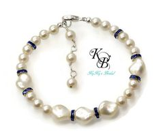 Pearl Bridesmaid Bracelet, Bridesmaid Jewelry, Wedding Jewelry, Bridal Bracelet, Mother Of The Bride | KyKy's Bridal, Handmade Bridal Jewelry, Wedding Jewelry #wedding #bride #bridesmaid