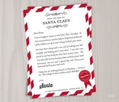 These Are Personalized Letters From Santas Desk I Can Customize