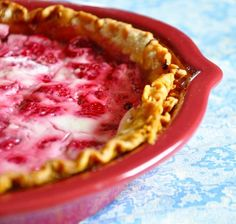 Sour cream raspberry pie... need to retry this one and eat immediately. it wasnt great after sitting for 2 days