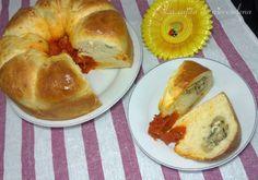 Brioche de sobrasada relleno de champiñón y queso de cabra