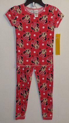 Disney Minnie Mouse 2 Piece Girl's Pajama Set Size 8 Red #Disney #PajamaSet Toddler Pajamas, Girls Pajamas, Pajama Set, Pajama Pants, Minnie Mouse, Rompers, Disney, Red, Dresses