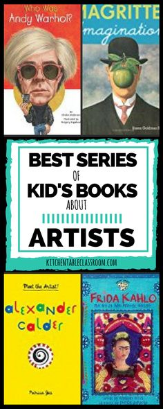 Best Series of Books about Artists - The Kitchen Table Classroom - Finding quality books about artists written directly to and for kids is the perfect introduction to - Art Education Projects, History Education, Art History, Art Projects, Museum Education, Teaching History, Art Books For Kids, Best Art Books, Kid Books