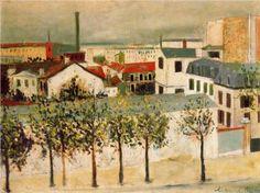 Paris suburbs - Maurice Utrillo, unknown date