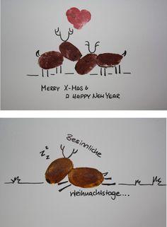 1001 sch ne weihnachtskarten selber basteln spunkdekor weihnachten basteln weihnachten und - Niedliche weihnachtskarten ...