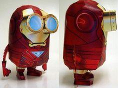 Toy 3D Papercraft - Minion Iron man (despicable me / tony stark / marvel / avengers)