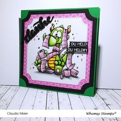 Claudia's Karteria: Danke TP-Helden | Thank you TP heroes ~ Whimsy Sta... Whimsy Stamps, I Card, Blog, Hero, Inspiration, Frame, Cute, Crown, Paper