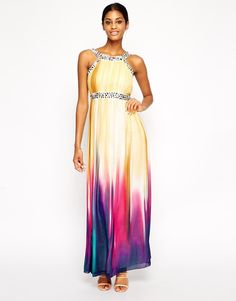 Little Mistress Maxi Dress in Faded Ombre