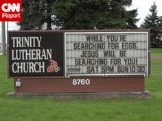 Church Sign Epic Fails: Easter Edition