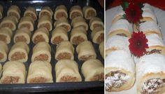 Mini záviny s ořechovo jablečnou náplní. Nádivku můžete zvolit podle své chutě, například tvarohovou, čistou oříškovou nebo marmeládu, nutelu, mák, povidla, ... Kolaci I Torte, Bread And Pastries, Biscuit Cookies, Strudel, Hot Dog Buns, Baked Goods, Sushi, Biscuits, Muffins