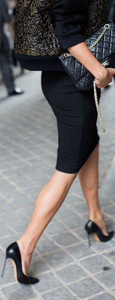 pencil skirt chic... http://rstyle.me/n/5v38nqmn and nice shoes, if you can wear them. Sex on a stick!