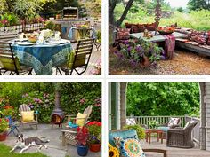Outdoor Living: composite of porch, patio, and deck staycation escape upgrades