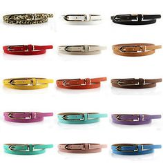 Newest Hot Fashion Women Multicolor Waistband PU Leather Thin Skinny Belt Buckle Thin Skinny, Skinny Belt, Belts For Women, Clothes For Women, Fashion Belts, Pu Leather, Leather Belts, Belt Buckles, Beauty Women