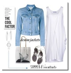 """""""Denim Jacket"""" by terry-tlc ❤ liked on Polyvore featuring Paolo Errico, Acne Studios, WithChic, DKNY, Anne Sisteron, denimjackets and WardrobeStaples"""