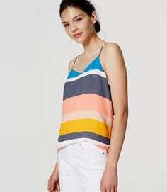 Image of Striped Strappy Cami