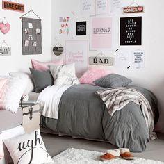 Metallic marble pillow - pink/silver new room teen bedroom, Bedroom Decor For Teen Girls Diy, Teen Room Decor, Room Ideas Bedroom, Teen Girl Bedrooms, Trendy Bedroom, Diy Bedroom, Bedroom Simple, Girl Rooms, Bedroom Themes