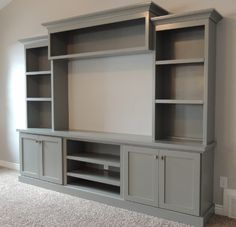Built-in Entertainment Center Ideas. Find ideas and inspiration for Built-in Entertainment Center Ideas to add to your own home. built in 7 DIY Entertainment Center Ideas to Design at Home Living Room Tv, Home And Living, Tv Wall Ideas Living Room, Wall Cabinets Living Room, Built In Shelves Living Room, Living Walls, Room Shelves, Kitchen Living, Storage Shelves