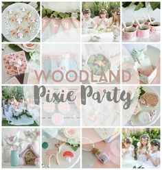 Woodland Pixie Party, fun birthday party ideas that include all the details on how to throw a magical party for your pixie fairy.