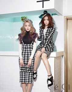 Dal Shabet - Subin and Ah Young  - Ceci Magazine February Issue '14