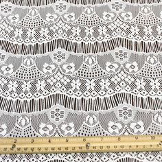 Off White Eyelash Floral Lace Fabric  Vivian by LaceFabrics