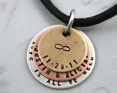 Father's Day Gift Personalized Necklace by LustrousElements