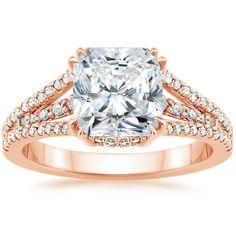 14K Rose Gold Riviera Diamond Ring from Brilliant Earth