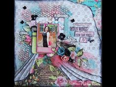 A step by step tutorial using the June LE kit by My Creative Scrapbook featuring Kaisercraft- Kaleidoscope...by Marilyn Rivera