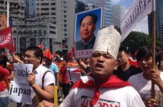Anti-Japan protests  Outrage, to a point