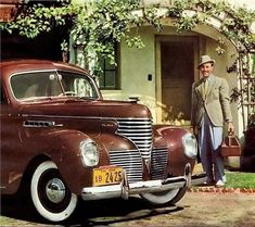 Walt Disney & his new 1939 Desoto