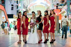 50s themed wedding photos \\ Photo Credit John Cudal Photography #redandblack #retrowedding