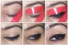 Easy way to apply eyeliner