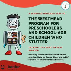We're delighted to share our latest Westmead Program resource. This scripted and no-prep 35-page PDF/Slides is designed to help speech pathologists to introduce the Westmead Program to families of children who stutter and to start practising syllable timed speech. Speech Language Pathology, Speech And Language, Syllable, Pre School, Programming, Encouragement, Stress, Knowledge, Student