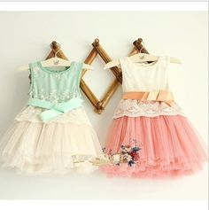 Embroidered Lace 4 layer gauze bow vest  dresses