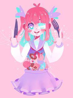 Kawaii Drawings, Cute Drawings, Kawaii Art, Kawaii Anime, Pretty Art, Cute Art, Anime Chibi, Character Art, Character Design