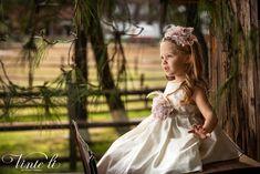 Φόρεμα βάπτισης Vinte Li 2904 μαζί με κορδέλα για τα μαλλιά, annassecret