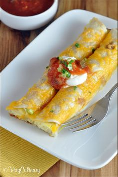 Make-Ahead Breakfast Enchiladas #recipe