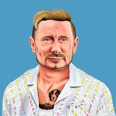 Künstler verwandelt Obama, Merkel und Co. in Hipster › ze.tt