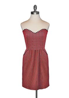 Judith March - Red Clover Gameday Dress