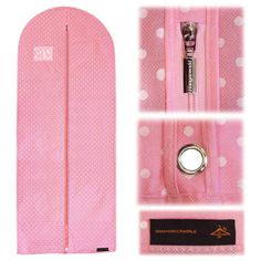 """Breathable Dress Cover - Pink with White Polka Dots - 60"""" (152 cm)"""