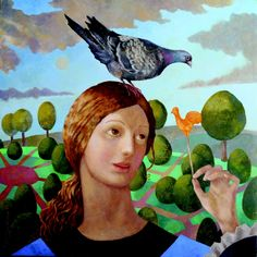 Golden Rooster by Olga Oreshnikov Francis Iles Gallery Rochester Copyright remains with the artist