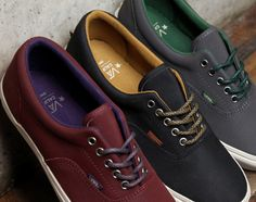 Vans. Go great with just about everything. Better than Converse in my opinion.
