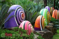 Caracoles de colores para tu jardin...