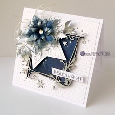 Chrismas Cards, Simple Christmas Cards, Holiday Cards, Christmas Crafts, Star Cards, 3d Cards, Xmas Theme, Paper Butterflies, Square Card
