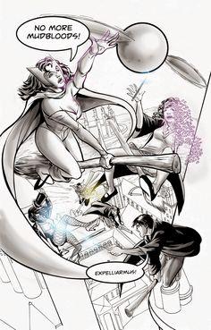 The Other Side blog: Zatannurday: Zatanna at Hogwarts!