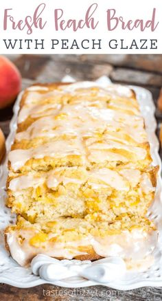 Peach Bread is a wonderful recipe to incorporate summer peaches. Delicious This Peach Bread is a wonderful recipe to incorporate summer peaches. This Peach Bread is a wonderful recipe to incorporate summer peaches. Köstliche Desserts, Delicious Desserts, Dessert Recipes, Pudding Recipes, Health Desserts, Plated Desserts, Dinner Recipes, Fresh Peach Recipes, Recipes With Peaches