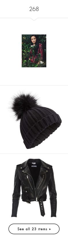 """""""268"""" by pocahaunted666 ❤ liked on Polyvore featuring accessories, hats, beanie, black, faux fur beanie, pom pom beanie, pompom hat, beanie cap hat, miss selfridge and outerwear"""