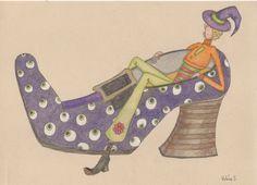 """dessin et coloriage Faber-Castell polychromos  Prismacolor Papier """"paint on"""" Clairefontaine Mrs Pettycoat 7"""