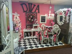 The hot pink room!