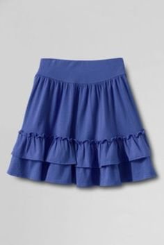 Girls'+Full+Ruffle+Tiered+Skort+from+Lands'+End in blues and magenta 17.50