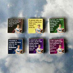 Jane Austen magnet set :)