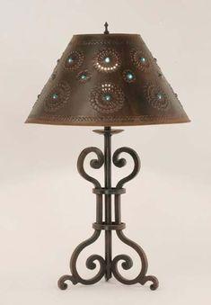 Iron Table Lamp   Malaga